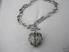 Heart Toggle Bracelet w/Crystal