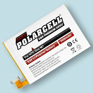 PolarCell Replacement Battery for HTC One M7 801n BN07100 35H00207-01M 2450mAh