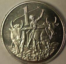 1977 Ethiopia 1 Cent Brilliant Uncirculated Farming Lion Judah Coin