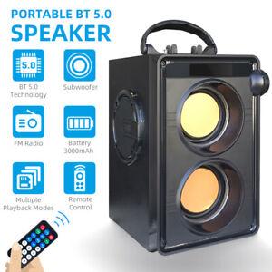 Bluetooth Lautsprecher Subwoofer FM-Radio LED Stereo-Soundbox für Outdoor-Indoor