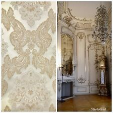 SALE! Designer Brocade Satin Fabric- French Floral - Upholstery Damask