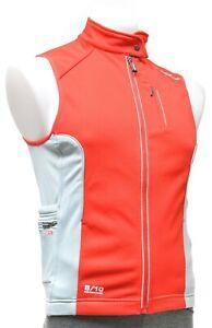2XU 8/10 Membrane Thermal Cycling Vest Men SMALL Red Road Triathlon Bike MTB CX