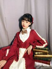 Fall In Star Authentic Make To Order Winter Lolita Dress Red