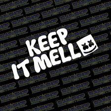 MARSHMELLO KEEP IT MELLO DJ EDM RAVE MELLOWING PLUR 11 Color Options Car/Truck