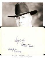 Harry S New Autograph Postmaster General Senator Indiana Butler University