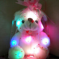 Toy LED Light Bear for Boy Girl Plush Soft Cuddly Toy Kids Stuffed Bears Gift