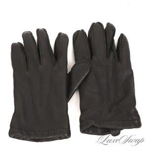 #1 MENS Polo Ralph Lauren Black Deerskin Leather Cashmere Blend Winter Gloves L