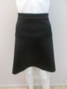 CUE IN THE CITY BLACK, EXPOSED ZIP SKIRT SIZE 8    (#M1201)