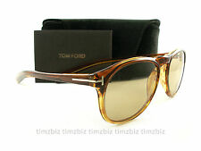 New Tom Ford Sunglasses TF291 Flynn 41A Light Havana FT0291/S Authentic