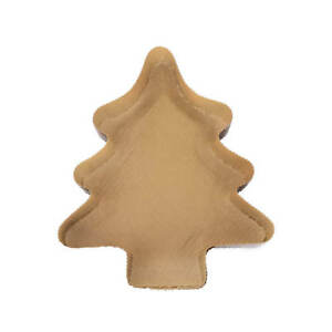 Paper Bake In Christmas Tree Baking Mould Disposable Baking Tray Bulk Pack of 50