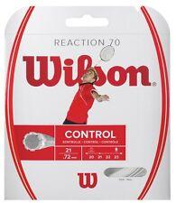 Wilson reacción 70 Badminton String Set (0,72 mm calibre) - Blanco