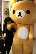 San-X Rilakkuma Brown Bear Mascot Costume Suit Party Dress Character Adults Size