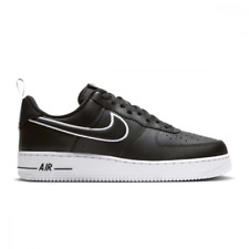 SCARPE NIKE AIR FORCE 1 '07 NERO BIANCO Dh2472-001 BASSE UOMO ORIGINALI GEL NEW