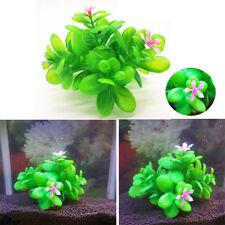 FR_ EG_Aquarium plastique artificiel plante aquatique avec faux fleurs Aquarium