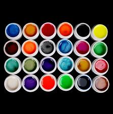 New 24 PCS Mix Colors Pearl UV Builder Gel Acrylic Nail Art Sets for Nail Tips