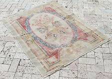 Turkish Rug 42''x55'' Vintage Old Anatolian Fragment Gordes Carpet 109x142cm
