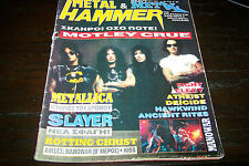 METAL HAMMER MAGAZINE 5/1994 MOTLEY CRUE METALLICA SLAYER FIGHT ATHEIST DEICIDE