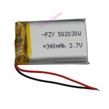 3.7v 340 mAh ai polimeri di litio Li cella per cuffie Bluetooth GPS Orologio Penna 502030