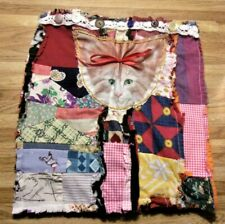 Laptop sleeve, cover or portfolio patchwork, raggedy bo ho, hippy cute kitty too