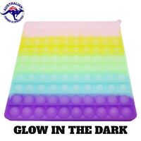 LARGE Glow In the Dark 20cm Square Pop Its Bubble Fidget Toy Push Bubble Stress