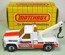 Matchbox GMC Truck Wrecker MB21 1:72 Scale MIB Frank's 24Hr Towing Getty