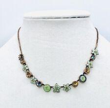 Pilgrim 14ct Gold Plated necklace Enamel & Swarovski crystals NWT Price $15