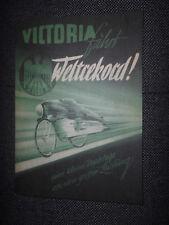 Prospekt Sales Brochure Victoria fährt Weltrekord FM 38 R Fahrradhilfsmotor Bike