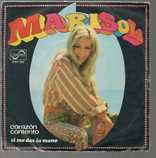 """Marisol Corazón contento / Si me das la mano 7"""" Single 1968"""