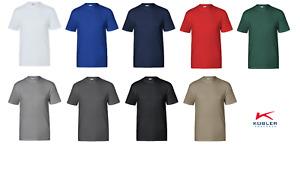 Arbeitsshirts Rundhalsausschnitt T-Shirt KÜBLER 9 Farben Baumwolle/Polyester