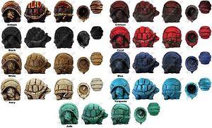 Resin Tortoise Box: Turtle Storage Container Ashtray Red White Green Black Blue