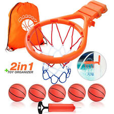 Bath Toy Basketball Hoop For Kids + 5 Upgraded Balls and Air Pump