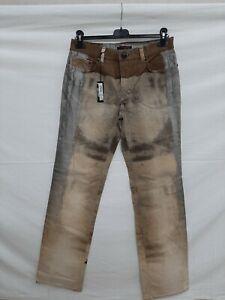 Roberto Cavalli jeans donna woman tg M multicolore multicolor marrone grigio oro