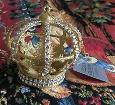 Regal Regencia Corona De Oro Colgante de Decoración de árbol de Navidad Ornamento
