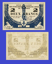 FRENCH OCEANIA 2 FRANC 1942 UNC - Reproduction