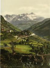 Valais. Alpes valaisannes. Stalden. La gare et l'hôtel Stalden. PZ vintage photo