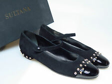 Sultana Chaussures Chaussures FEMMES CREATEUR n4258 Emma comoscio Nero timor taille 37 NEUF
