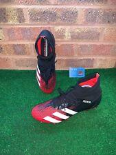ADIDAS PREDATOR 20.3 SG FOOTBALL BOOTS - BLACK / RED / WHITE - SIZE UK 10