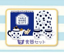 Re-ment Rilakkuma Gift Box #7-Polka Dot Dishes -1:6 Barbie dollhouse miniatures