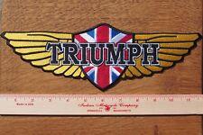 Moto Chaqueta De Motorista Parche de Tela Cafe Racer Insignia Triumph alas 30 cm 12 pulgadas