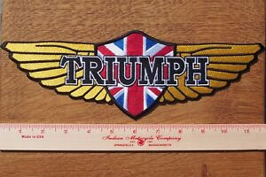 Motorcycle Biker Jacket Cafe Racer Cloth Patch Badge TRIUMPH WINGS 30 CM 12 Inch
