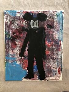 Hasworld Original painting contemporary pop abstract Mickey Mouse silhouette a