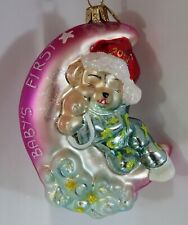 Baby's 1st Christmas Glass Ornament Large 5""