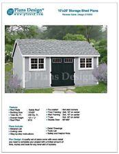 Building Blueprints Shed Plans 10' x 20' Reverse Gable Roof Style Design #D1020G