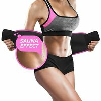10xSWEAT Waist Trainer Trimmer Belt Body Shaper Black And Pink For Men And Women