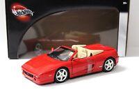 1:18 Hot Wheels Ferrari F355 Spider red NEW bei PREMIUM-MODELCARS