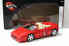 1:18 HOT WHEELS FERRARI f355 SPIDER RED NEW in Premium-MODELCARS