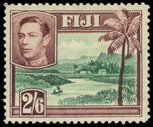 """FIJI 130 (SG265) - King George VI """"River Scene"""" (pb27981)"""