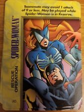 Marvel Overpower IQ Spider-Woman Rescue Operation Card NrMint-Mint