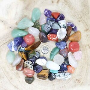 50 x Assorted Crystal Tumblestone Sets Collections 435g-563g Reiki seconds