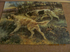 Vintage 1930's Jig Of The Week Puzzle The Hunters English Setters E Osthaus -2